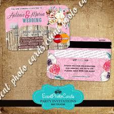 credit card wedding invitations