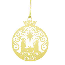 peace on earth brass nativity ornament 24 pk