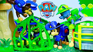 paw patrol chase duplicates caged jailed jungle rescue