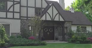 one family house tudor architecture usa 4k stock video 516
