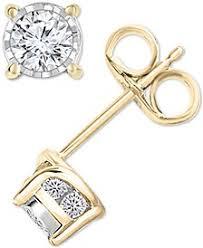 gold and diamond earrings diamond earrings macy s