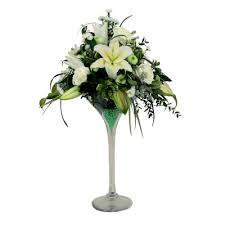 Martini Glass Vase Flower Arrangement Martini Vases Easy Florist Supplies