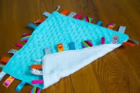 tutorial diy lovey tag blanket