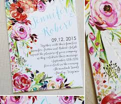 a peek into the studio floral watercolor wedding invitations