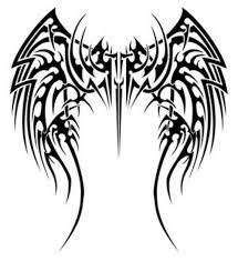 tribal tattoos wings strorms tatoo