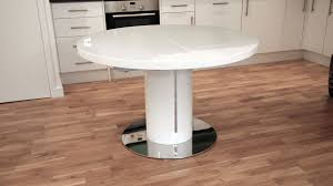 extendable round dining table white gloss extending dining table new ideas curva white gloss