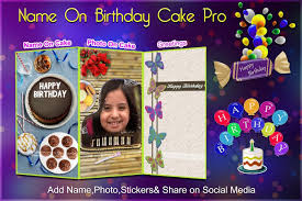 photo on birthday cake cake with name and photo android apps