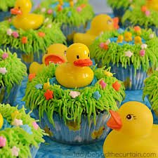 rubber duck baby shower duckie pond baby shower cupcakes