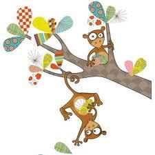 stickers animaux chambre bébé stickers colorés chambre enfant thème animaux de la jungle