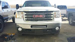 led lights for 2014 gmc sierra gmc 2500 3500 2011 2014 bumper mount kit holds 20 inch single row