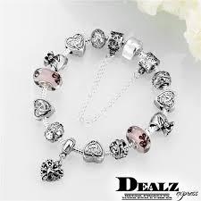 sterling silver beads pandora bracelet images Heart pendant pandora charm bracelet 925 sterling silver plated jpg