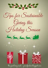tips for sustainable gift giving this holiday season