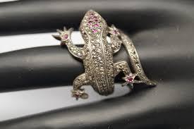 big finger rings images Big victorian diamond lizard ring covers full finger gleam jewels JPG