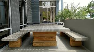 Concrete Table And Benches Concrete Ping Pong Table And Benches Béton Studio