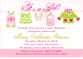 Baby Invitation Card Baby Shower Wording For Card Baby Shower Diy