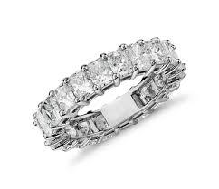 radiant cut engagement ring radiant cut diamond eternity ring in platinum 5 ct tw blue nile