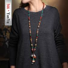 tibetan silver ethnic necklace images 566 jewelry quality wood beads ethnic necklaces bodhi silver jpg