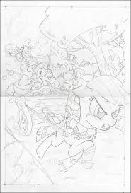 my little pony comic book art by bill forster