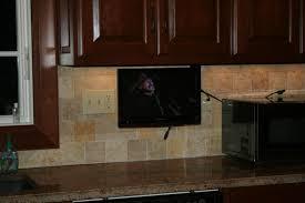 tv in kitchen ideas vintage cabinet mount tv for kitchen greenvirals style