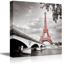 Modern Wall Art Amazon Com Wall26 Canvas Prints Wall Art Eiffel Tower In Paris