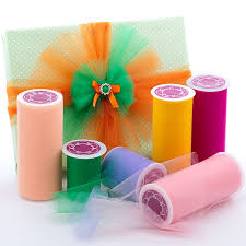 spools of tulle premium colored tulle in rolls