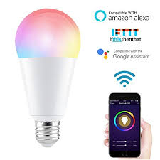 alexa compatible light bulbs wifi smart bulb led household light compatible with alexa google