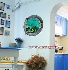 dimensional wall wall paintings 3d three dimensional wall stickers tropical fish