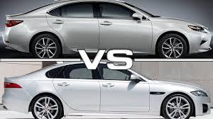 lexus es300 vs audi a6 2016 lexus es vs 2016 jaguar xf youtube