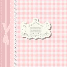 romantic scrap booking template for invitation greeting baby