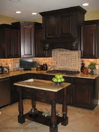 Granite Countertops And Cabinet Combinations Best 25 Dark Wood Cabinets Ideas On Pinterest Dark Wood Kitchen