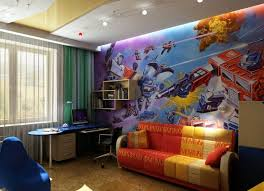 fresque chambre enfant design interieur fresque murale chambre enfant science fiction
