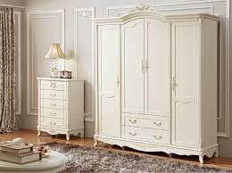 Wood Armoire Wardrobe Antique Solid Wood Armoire Wardrobe Four Door White Wardrobe In
