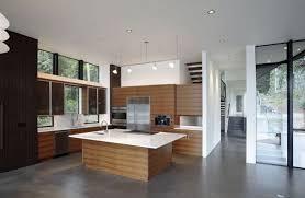 Concrete Kitchen Design Contemporary Kitchen Design With Concrete Floor Flooring Ideas