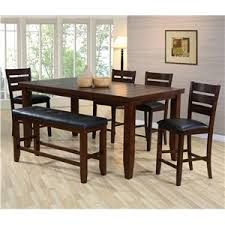 6 piece dining set w 4 chairs u0026 bench bardstown by crown mark