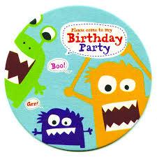 monster invitation monster party coasters invitations by aliroo notonthehighstreet com