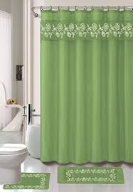 Shower Curtain Green Kashi Home Shower Curtains Shower Curtains Outlet