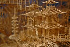 toothpick house incredibly patient artist uses 100 000 toothpicks to create amazing