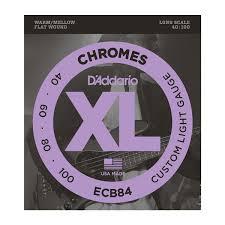 d addario strings chromes flat wound ecb84 chromes bass