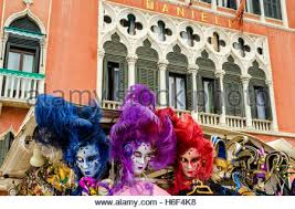 carnival masks for sale colourful carnival masks on sale in front of hotel danieli stock