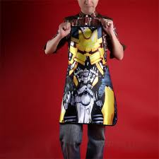 Personalized Kitchen Aprons Aprons Transformers Bumblebee Kitchen Apron Movie Characters