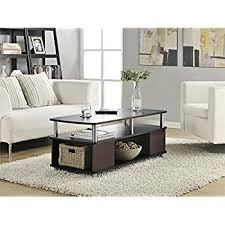 Carson Coffee Table Ameriwood Home Carson Coffee Table Cherry Black