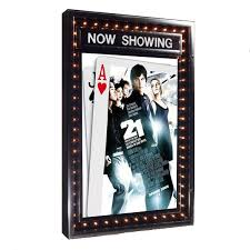 lighted movie poster frame chaselite illuminated poster case with dater stargate cinema