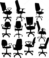 Office Chair Clipart Eleven Office Chairs Isolated On White U2014 Stock Vector Dr Pas