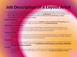 Layout Artist Job Specification | list of synonyms and antonyms of the word layout designer job