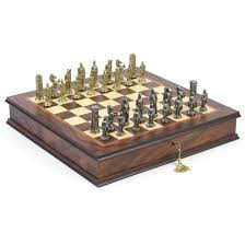 hannibal roman metal chess set hayneedle