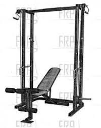 Weider Pro Bench Weider Pro 545 Squat Bench Power Rack Only With Lat Pulldown