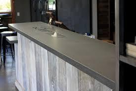 concrete top bar table concrete bar top craftsman home bar san francisco by