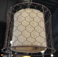 Burlap Chandelier Shades Primitive Chicken Wire Burlap Drum Swag Lamp Lamp Shade Pro