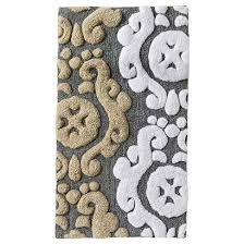 threshold scroll bath rug gray 20x34 target decorating
