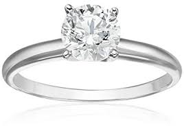 white gold diamond ring 14k white gold diamond solitaire engagement ring 1